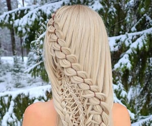 neige, cheveux, and femme image
