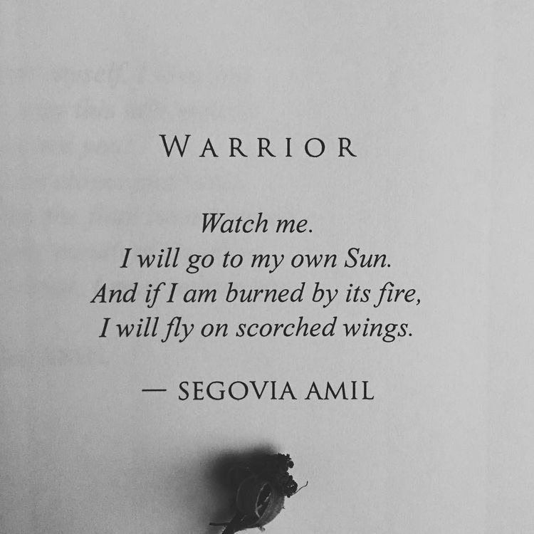 quotes, words, and warrior image