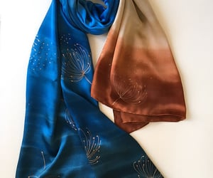 art to wear, hand painted scarf, and bridal shawl image