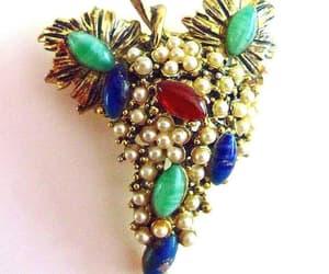 etsy, art glass brooch, and fruit brooch image