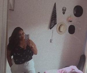 selfie, whitepants, and mirrorselfie image