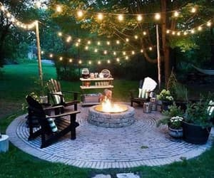 garden, light, and outdoor living image