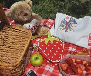 cottage, food, and strawberry image