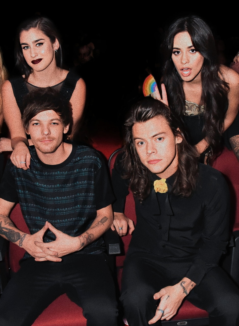 Harry Styles, camren, and louis tomlinson image