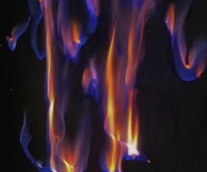 fire and blue image
