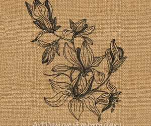 embroidery, floral pattern, and flower pattern image