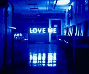 aesthetics, dark blue, and love image