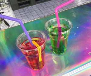 colors, drinks, and green image