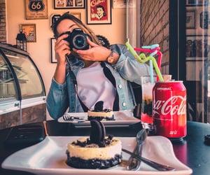 camera, cafeteria, and giř image