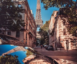 car, city, and eiffel tower image