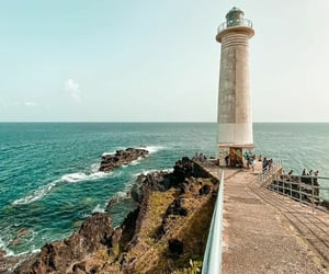 Caribbean, guadalupe, and light house image