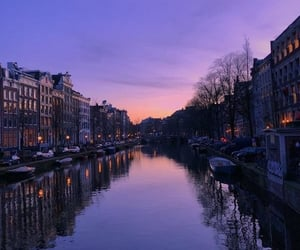 sunset, amsterdam, and photography image