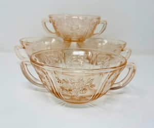 etsy, pink handled bowl, and federal glass rose image