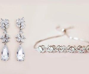 cluster earrings, rhinestoneearrings, and bridesmaidsearrings image