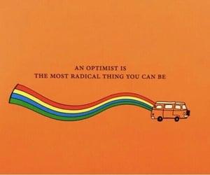 quotes, orange, and rainbow image