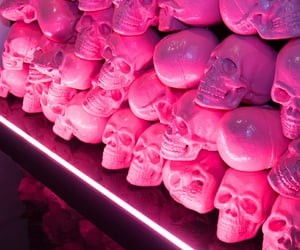 art, installation, and pink image