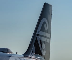 airplane, air new zealand, and new zealand image