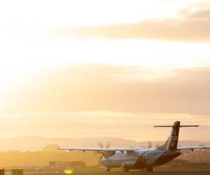 airplane, new zealand, and sunshine image