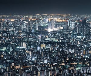 asia, japan, and night photography image