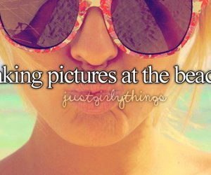 beach, pictures, and text image