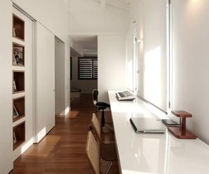 apartment, corridor, and design image