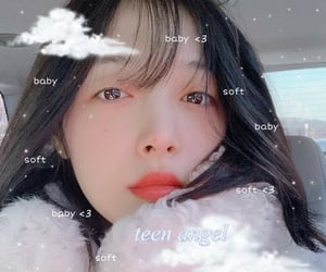 sulli, angel, and theme image