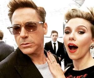 rdj and Scarlett Johansson image
