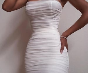 night out, party, and white outfit image