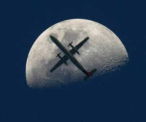 sky and airplane image