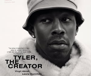 black and white, magazine cover, and tyler the creator image