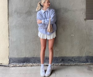 white blouse, simple casual look, and outfit inspiration inspo image