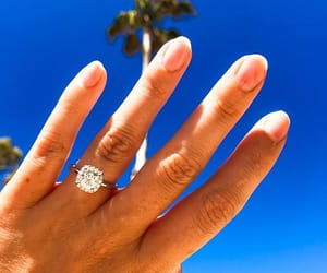 engaged, engagement ring, and proposal image
