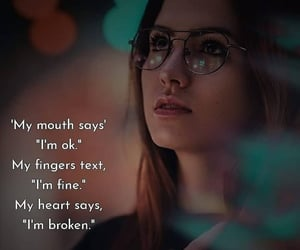 broken, quotes, and fine image