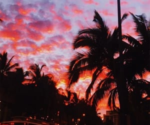 wallpaper, sunset, and sky image