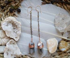 boho, chain earrings, and statement earrings image