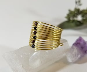 etsy, brass ring, and brass stacking ring image