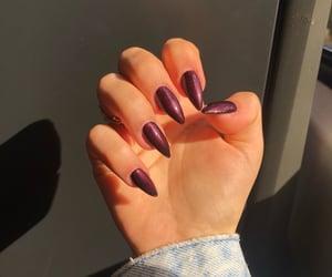 burgundy, denim, and girly image