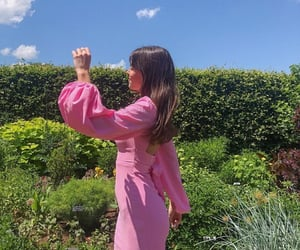 backless dress, fashionista fashionable, and flowers bloom sky image