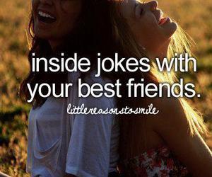 best friends, friends, and joke image