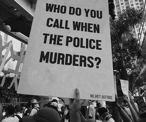 b&w, justice, and police image