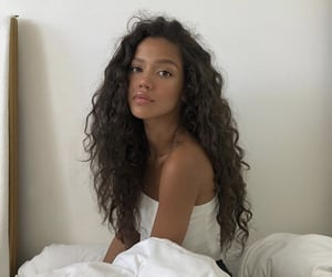 hair, beauty, and bed image