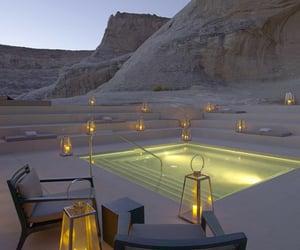 pool, luxury, and light image