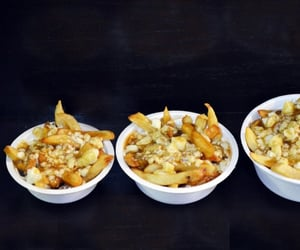 potato chips, poutine, and snack image