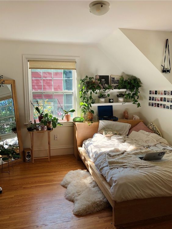 apartment, bedroom, and boho image