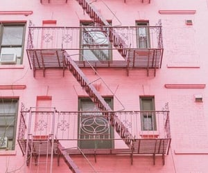 pink and apartment image