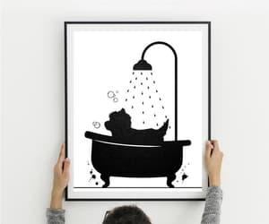 etsy, watercolor art, and bathroom decor image