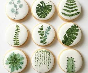 cookie, green, and leaf image