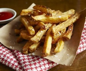 fries, potato, and thrice cooked chips image
