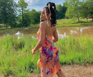 bad gal, dreads, and nature image
