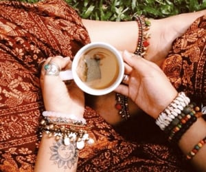 hippie, tea, and bohemian image